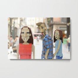 Distracted Blockfriend Metal Print