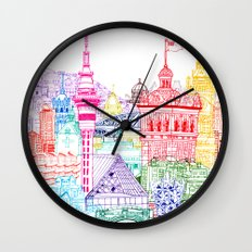 New Zealand Towers  Wall Clock