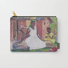 UGANDA Scene       by Kay Lipton Carry-All Pouch