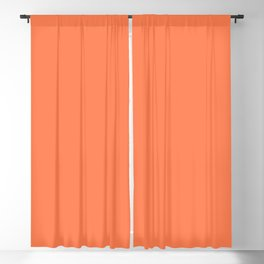 Solid Coral Color Blackout Curtain