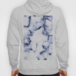 Black and Blue Marble Hoody