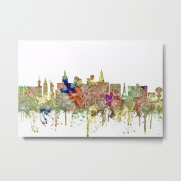Las Vegas, Nevada Skyline - Faded Glory Metal Print