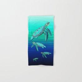 Sea Turtle Turquoise Oceanlife Hand & Bath Towel
