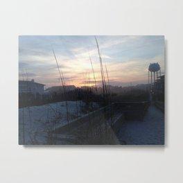 Sunset before the rain Metal Print