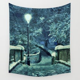 Snowy Nights Wall Tapestry