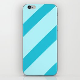 Minty Stripes iPhone Skin