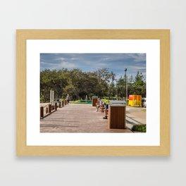 Broadbeach Boardwalk Framed Art Print