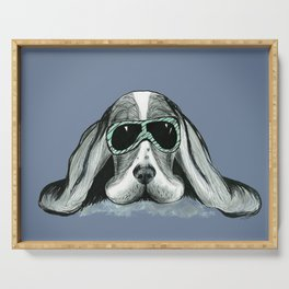 Cool Basset Hound Serving Tray