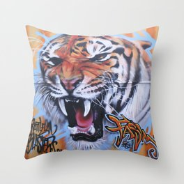 A Tiger in SoCal Throw Pillow