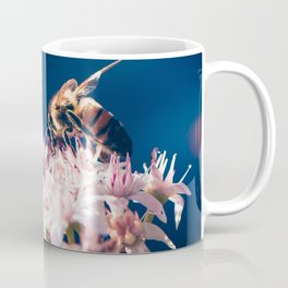 Crassula ovata Jade Flowers and Honey Bee Kula Maui Hawaii Coffee Mug