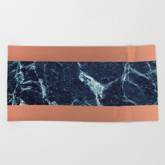 Blue Marble & Copper Beach Towel