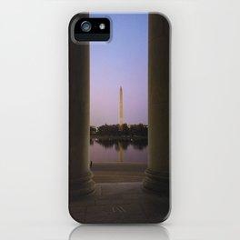 Washington DC at twilight iPhone Case