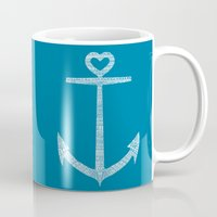 kpop Mugs featuring Love is the anchor by Picomodi