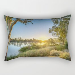 River Sunrise Rectangular Pillow