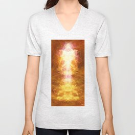 *TAP INTO UNIVERSAL ENERGY *reposting for Greeting Card addition Unisex V-Neck
