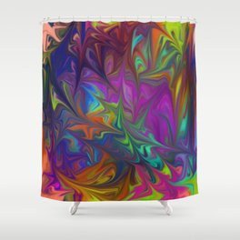 Colors Abstract Fantasy Shower Curtain