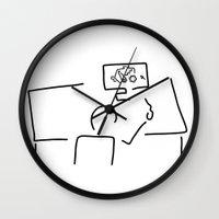 engineer Wall Clocks featuring mechanical engineering engineer by Lineamentum