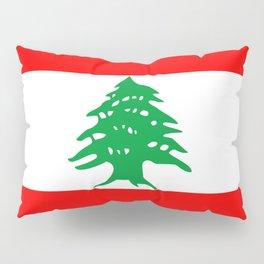 lebanon country flag tree Pillow Sham