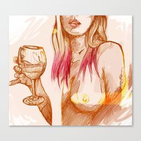 erotic Canvas Prints featuring Erotic Portrait by Mattew Draw