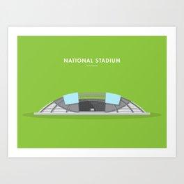 National Stadium, Singapore [Building Singapore] Art Print