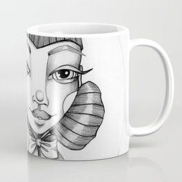 JennyMannoArt Graphite Illustration/Victoria Coffee Mug