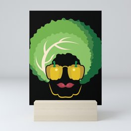 Vegan Afro design Funny Gift for Men Women Girls and Boys Mini Art Print
