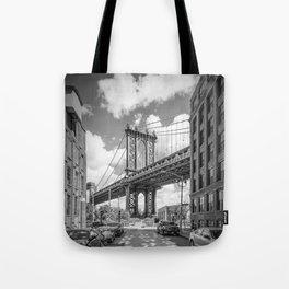 NEW YORK CITY Manhattan Bridge | Monochrome Tote Bag