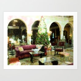 Holiday time Inside Ringling Mansion Art Print