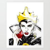 evil queen Art Prints featuring Evil Queen by Dalles Wilie