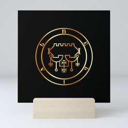 Seal of Belial or Sigil of Belial in gold- The Sixty-eighth Spirit created after Lucifer Mini Art Print