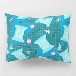 Memphis Sewing in Blue Pillow Sham