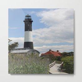 Walkway To Fire Island Lighthouse Metal Print