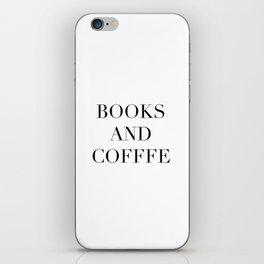 Books & Coffee iPhone Skin