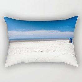 Beach chair at the North Sea Rectangular Pillow