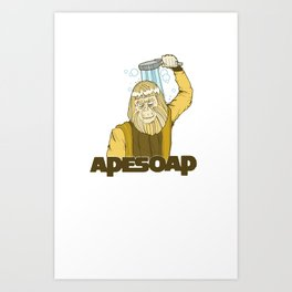 Dr. Zaius Ape Soap Art Print