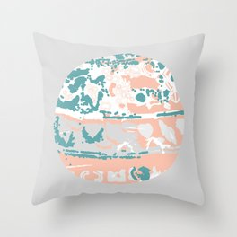 Pastel Pom Pom Throw Pillow