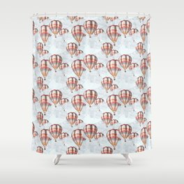 Air Ballons Pattern Shower Curtain