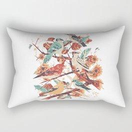Oiseaux et fleurs Rectangular Pillow