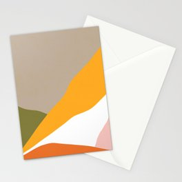 Minimal Landscape Collage 3.1 Orange & Green  Stationery Cards