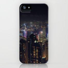 Hongkong Skyline at night iPhone Case