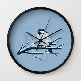 North For The Winter. Wall Clock