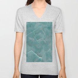 Ice Green Marble Unisex V-Neck