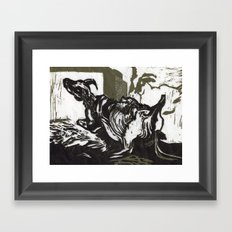 Sheep in Labor, Iceland Framed Art Print