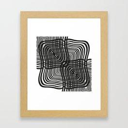 Black and White Illusion Framed Art Print
