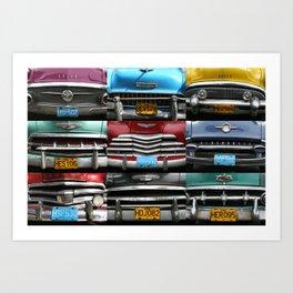 Cuba Car Grilles - Horizontal Art Print