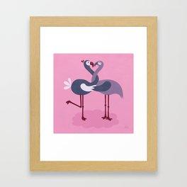 LoveBirds - pink Framed Art Print
