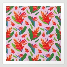 Heliconia Art Print
