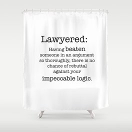 Lawyered Shower Curtain