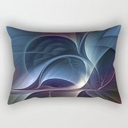 Fractal Mysterious, Colorful Abstract Art Rectangular Pillow