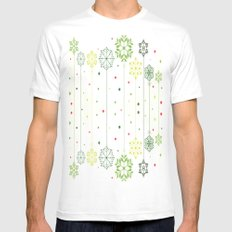Holidays Deco Mens Fitted Tee White MEDIUM